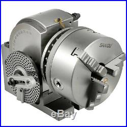 Dividing Head BS-1 6 3 Jaw Chuck & Tailstock for CNC Milling Machine Precision