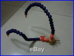 Dual Coolant 1/4 Hose With Valve On Magnetic Base for Milling free shipping