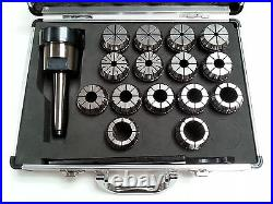 ER40 Collet Set 15 Piece MT3 Metric