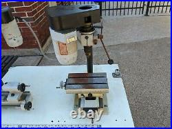Emco Unimat 3 Lathe & Mill, separate Milling machine, accessories with case