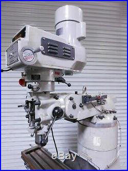 Enco 9 x 49 Knee Milling Machine with Variable Speed Pulley 3HP 220V 1PH USED