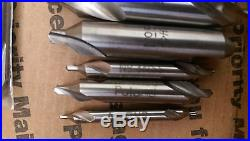 End Mills 25+ pieces two Flute double-end Mill Lathe Niagara cutter HS Cobalt