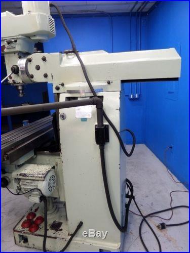 FIRST HEAVY DUTY 56 x 10 VERTICAL MILLING MACHINE LC-20VSG + MITUTOYO DRO