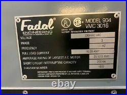 Fadal VMC 3016 Vertical Machining Center Model 904-1 with 8 Collet Tools Included