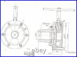 Gloster 5C collet chuck plain recess mount 5 (125mm) diameter