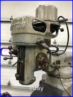 Gorton 1-22 mastermil 10x42 milling machine with collets Bridgeport knee type