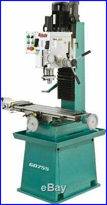 Grizzly Industrial G0755 Milling Machine with stand and power feed. 10x32 NEW
