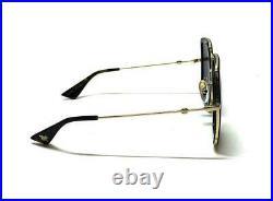 Gucci GG0106S 001 Sunglasses Black Gold 100% UV Women Sunglasses
