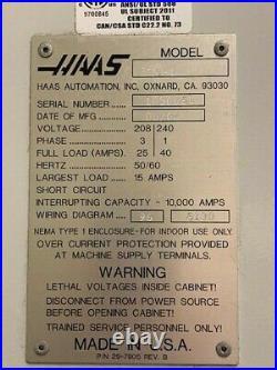 HAAS TM-1 vertical CNC mill