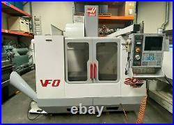 HAAS VF-0 CNC Vertical Machining Center 20 HP 4th Axis Ready Side Mount 2001