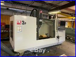 Haas TM-3P 40 x 20 CNC Mill Probe, rigid tapping, HS machining, 4th-axis