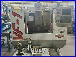 Haas VF-1 VMC, 1998 4th Axis Wired, P-cool, Chip Auger