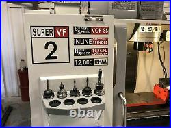 Haas VF-2SS VMC, 2006 High Speed, Rigid Tap, Vises Included, Video