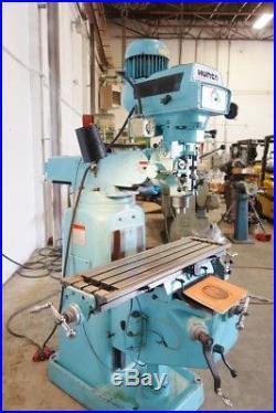 Hurco Vertical Milling Machine Digital Read Outs Power Feed Bridgeport