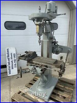 Index 8x23 Knee Milling Machine 110 Volt Power Feed Mini Bridgeport USA
