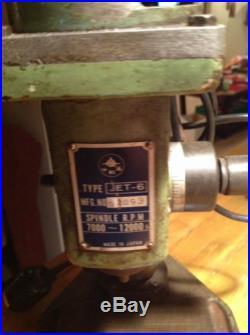JET-6 #62093 Taper Milling Drilling Machine Rpm 7000 12000
