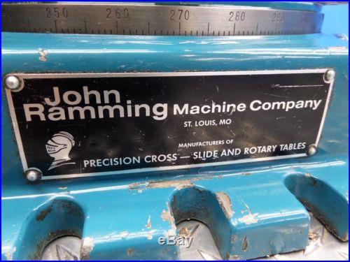 JOHN RAMMING MACHINE CO CROSS SLIDE ROTARY TABLE 11 x 11 B-11