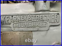KEARNEY & TRECKER MILWAUKEE 10HP-2CK Horizontal Mill Milling Machine