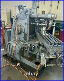 KEARNEY & TRECKER MILWAUKEE 7-1/2HP-3CH Horizontal Mill Milling Machine