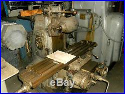 Kearney & Trecker Horizontal Milling Machine with Vertical Head Attachment