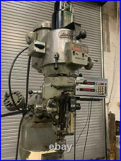 LOADED Bridgeport Series I-2HP Vertical Milling Machine, 48, DRO, Shaping, Feed