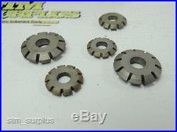LOT OF 13 HSS DOUBLE ANGLE MILLING CUTTERS 3/4 TO 2-3/4 WITH 1/4 TO 1 BORE