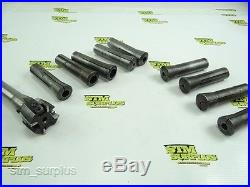 LOT OF BRIDGEPORT MILL R8 SHANK TOOLING COLLET SET & INDEXABLE FACE MILL