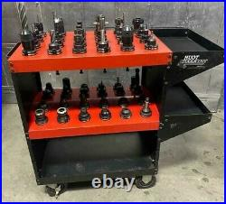 Lot of 48 CAT 40 EndMill Tool Holder for CNC Fadal Haas VF2 VF3 VF4 Mill With Cart