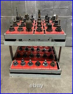 Lot of 48 CAT 40 EndMill Tool Holders CNC Fadal Haas VF2 VF3 Mill Lista Cabinet