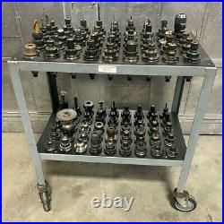 Lot of 90 CAT40 Tool Holders for Fadal CNC Vertical Machining Center With Cart