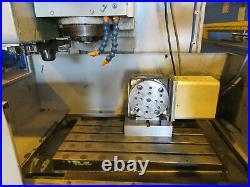 MORI SEIKI VERTICAL MACHINING CENTER MV-JUNIOR 4th AXIS ROTARY VIDEO BELOW