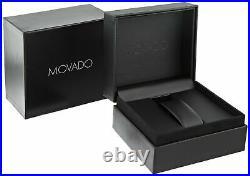 MOVADO Museum 2100006 Gold-tone Black Dial Leather Strap Quartz Ladies Watch