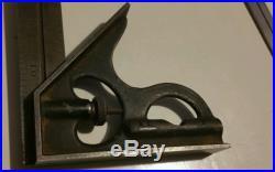 Machinist Brown & Sharpe 496 bevel protractor & No 4 Hardened Combination Square