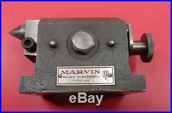 Machinist Milling Tool Rare Marvin Index Head with Tail Stock Center