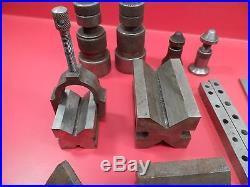 Machinist Milling Tools V Blocks, Parallels, Vise, Jacks