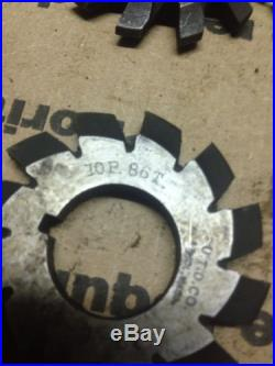 Machinist tool, 10P involute gear cutters, atlas milling machine