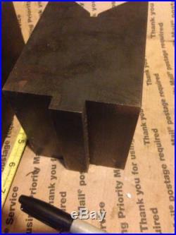 Machinist tools, milling machine Vee blocks, bridgeport milling machine