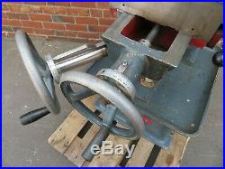 Marlow 3 Phase Vertical Milling Machine Excellent Condition Ex College 3 Phase