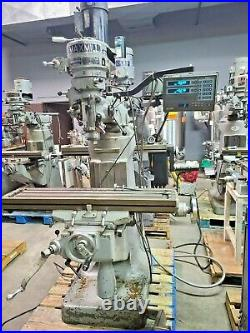 MaxMill Max Mill Vertical Milling Machine 9 x 42 DRO Bridgeport Style