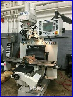 Milltronics VK2 CNC Vertical Mill, conversational control, R8 Taper