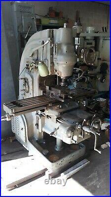 Milwaukee Kearney Trecker Model 2H Vertical Milling Machine Mill K&T 10x50 Table