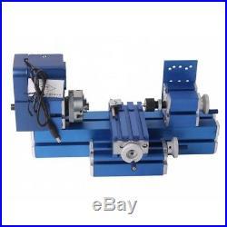 Mini DIY 24W Motorized Lathe Machine Tool Metal Woodworking Hobby Model Making
