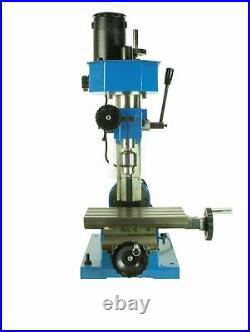 Mini Metal Mill Drilling Machine Press BenchTop 3/8 Drill Capacity with Cutters