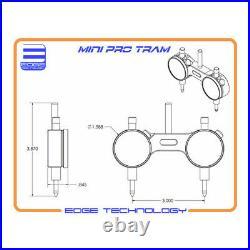 Mini Pro Tram Bridgeport Head Square Mill Spindle CNC Router Milling Edge Tech