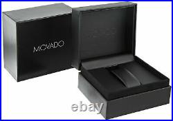 Movado 0606997 Museum Classic Black Dial Yellow PVD Analog Men's Watch