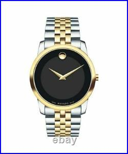 Movado Museum Classic 0606899 Black/Two-Tone Silver and Yellow Gold Stainless S