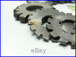 NICE LOT OF 10 HSS CONVEX MILLING CUTTERS 2 TO 2-3/8 WITH 7/8 BORE B&S