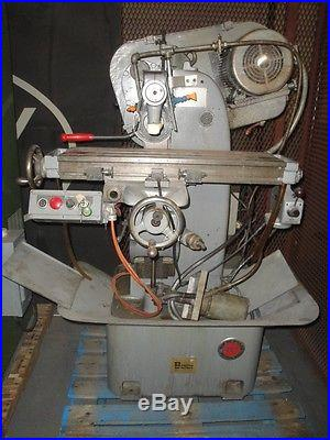 NICHOLS HORIZONTAL MILL, 8.5 inch X 30 inch TABLE, POWER FEED PRODUCTION MILL