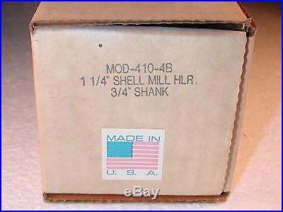 NOS USA AMERICAN SUN 1-1/4 Shell End Mill Holder 3/4 Shank Deckel etc 410-4B