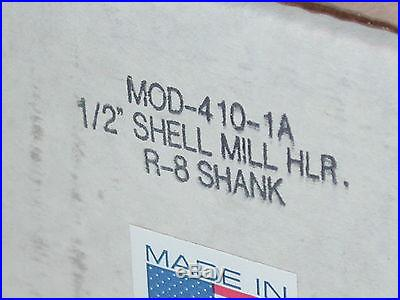NOS USA AMERICAN SUN 1/2 Shell End Mill Holder R8 Shank 4 Deckel etc 410-1A